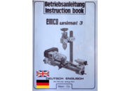 Emco Unimat 3 Drehbank Betriebsanleitung  (EN, DE) in PDF