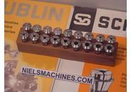 Schaublin B8 watchmaker ø8mm Collets Set 0.3-6.5mm