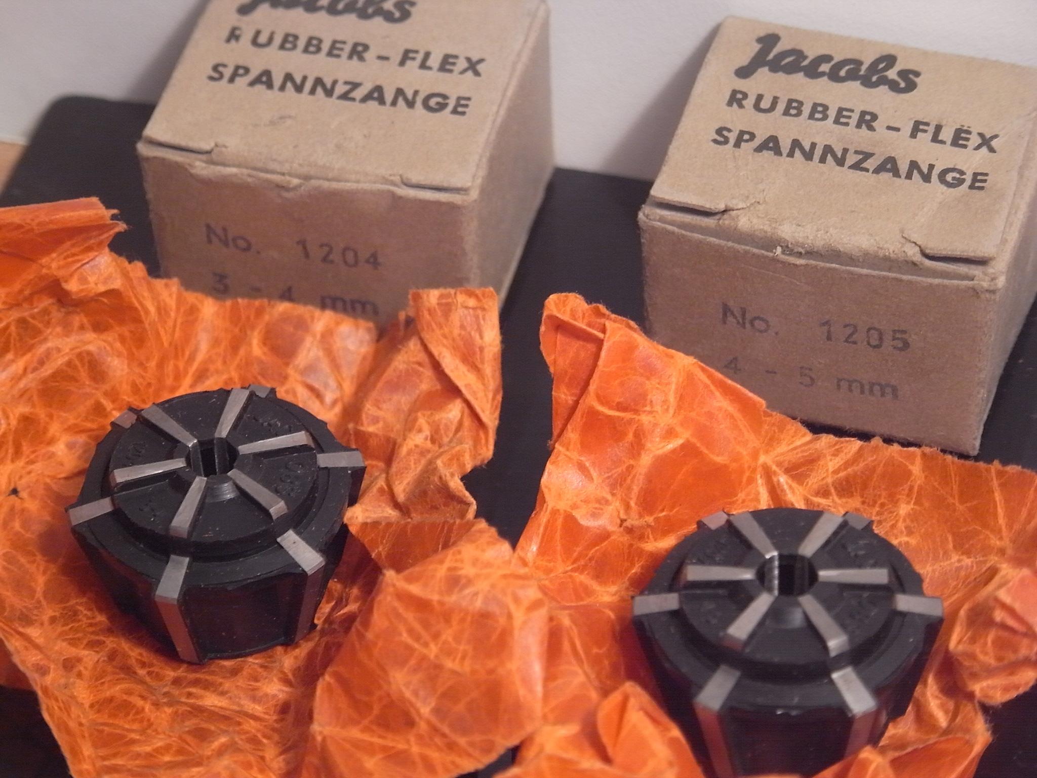 Stellhülse 28 Spannzangenfutter 2 Spannzangen ORTLIEB 2,8-7-13 mm Rubber-Flex
