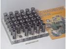 Schaublin W20 collets 0.5mm-18mm 35 Pieces