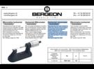 Bergeon Tavannes Watch Repair Micrometer