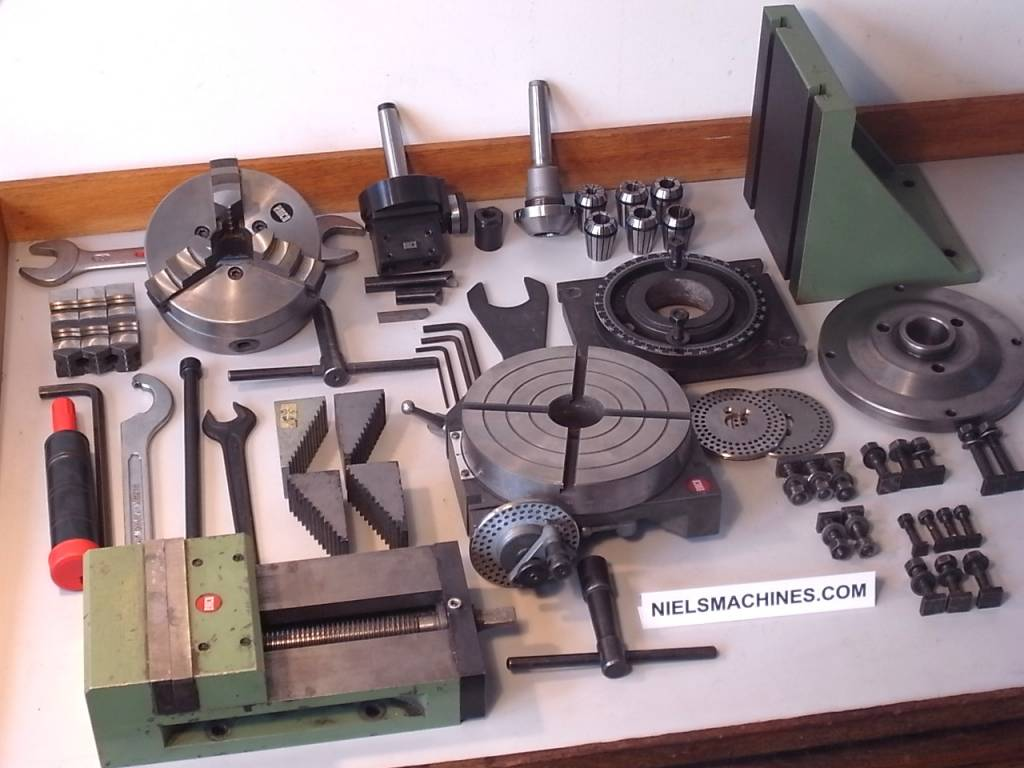 Sold Emco Fb2 Milling Machine With Accessories Niels Machines
