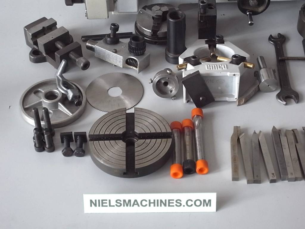 Sold Emco Unimat 3 Lathe With Milling Attachment And Accessories