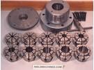Verkauft: Crawford manuale hydraulic Spannzangen Futter mit wide range Multibore Spannzangen Satz