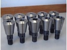 Sold: Friedrich Deckel Complete Collet Set with Direct 40 Taper for Deckel FP2