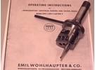 Verkauft: Wohlhaupter UPA1 Universal Plan und Ausdrehkopf mit Schaublin W20 Aufnahme