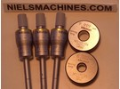 Sold: Mitutoyo 368-911 Holtest Inside Micrometer Bore Gauge Set Metric (6-12mm) With Setting Rings