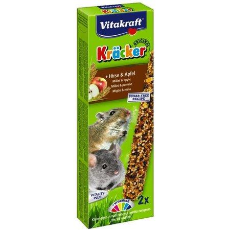 Vitakraft Muis, Gerbil, Zwerghamster Kracker Gierst & Appel