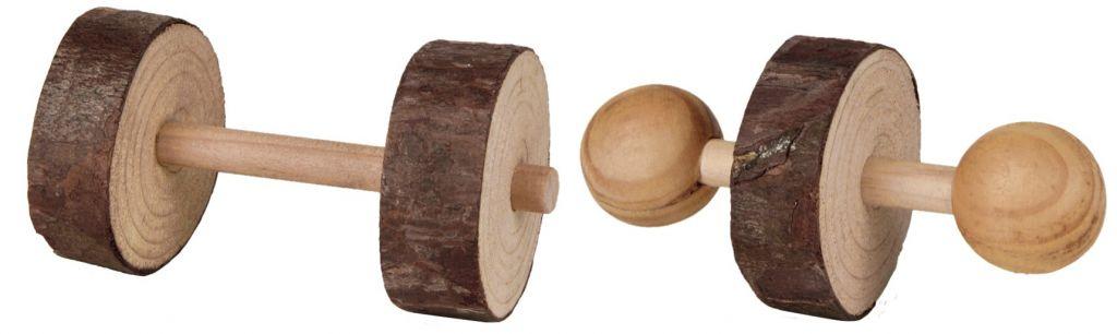 Trixie Set aus Holz Dumbbells 4,5 cm