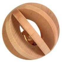 Holz Lamellenbal mit Glocke 6 cm