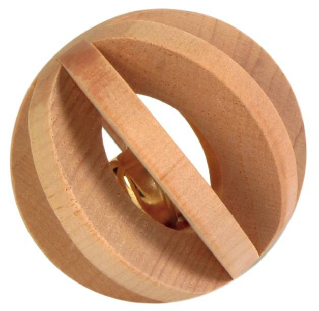 Trixie Holz Lamellenbal mit Glocke 6 cm