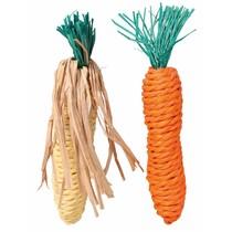 Mais & Karotte Stroh Spielzeug 15cm