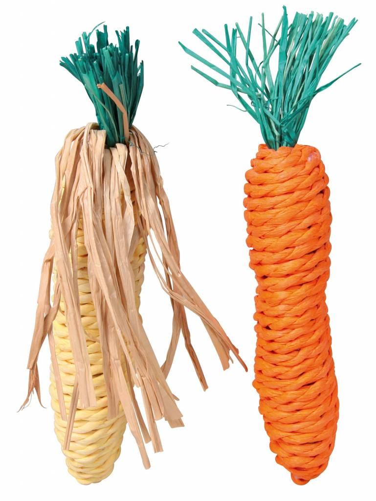 konijnen speeltjes mais en wortel