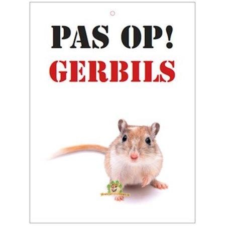 Knaagdierwinkel.nl Waakbord Pas op! Gerbils