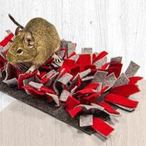 Natur Snuffelmat Filz Rot Grau 28 cm