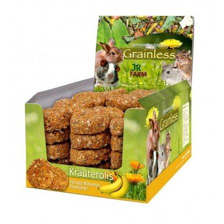 JR Farm Getreidelose Kräuter rollen Ringelblume & Banane 80 Gramm