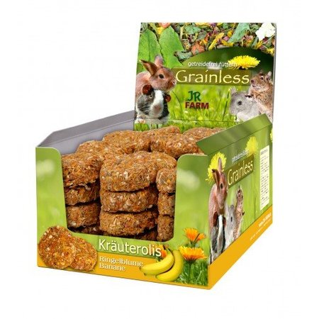 JR Farm Grainless Kruiden Rol Goudsbloem & Banaan 80 gram