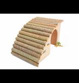 Elmato Abgewinkelte Nagetiervilla mit Weidendach 29,5 cm