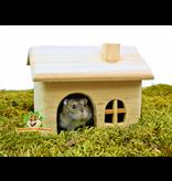Trixie Houten Huisje Blank 15 cm