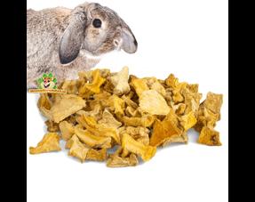 Kaninchen-Imbisse getrocknetes Gemüse