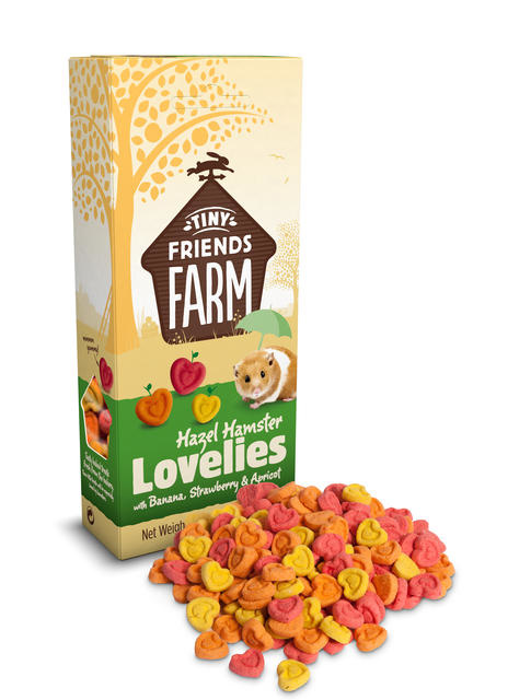 Supreme Hazel Hamster Lovelies Banana, Strawberry & Apricot 120 grams