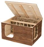 Trixie Hilke Haus mit eingebautem Heuraufe 40 cm