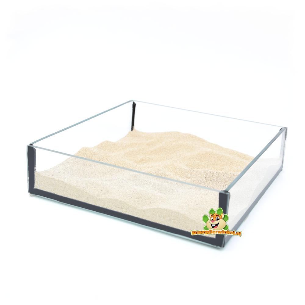 DRD Knaagdierwinkel® Glass Sand Bowl Square 20 cm
