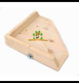 DRD Knaagdierwinkel® Eckregal Blank mit Rand 17 cm