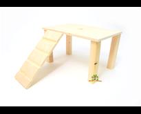 Holzplattform mit 28 cm Treppe