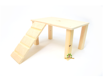 Wooden platform with 28 cm staircase
