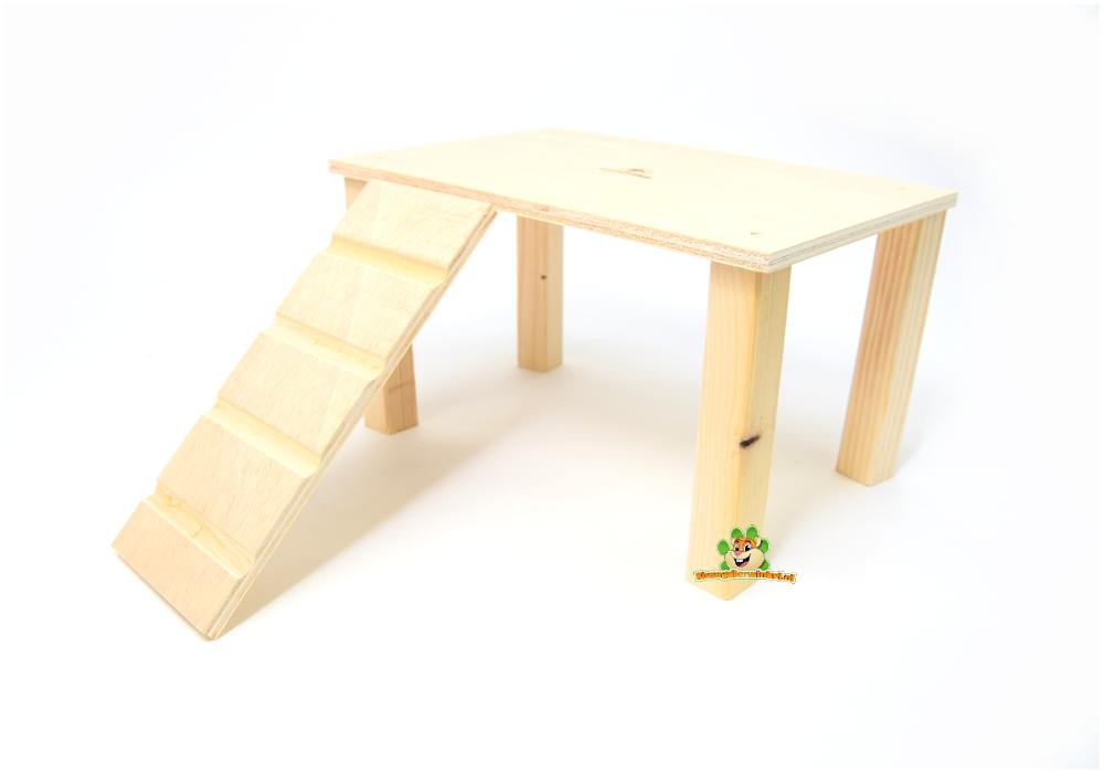 Knaagdierwinkel® Holzplattform mit 28 cm Treppe