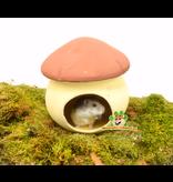 Terrakotta-Pilzhaus 17 cm