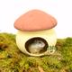 Terracotta Mushroom House 17 cm