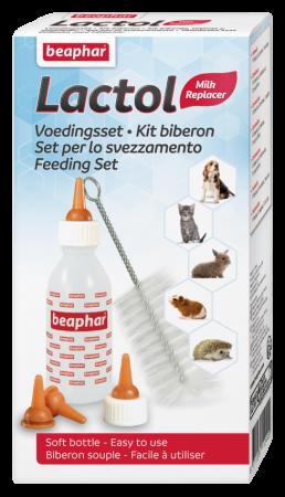Beaphar Lactol Fütterungsset Babyflasche & Schnuller