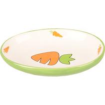 Feeding bowl Carrots Oval 12.5 cm