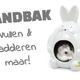 Hamsterhaus & Badehaus Sandkastentrichter Grau 11 cm
