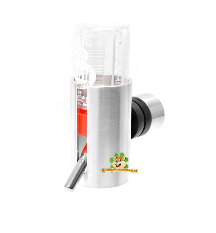 Knaagdierwinkel® Aluminium Drinkfleshouder