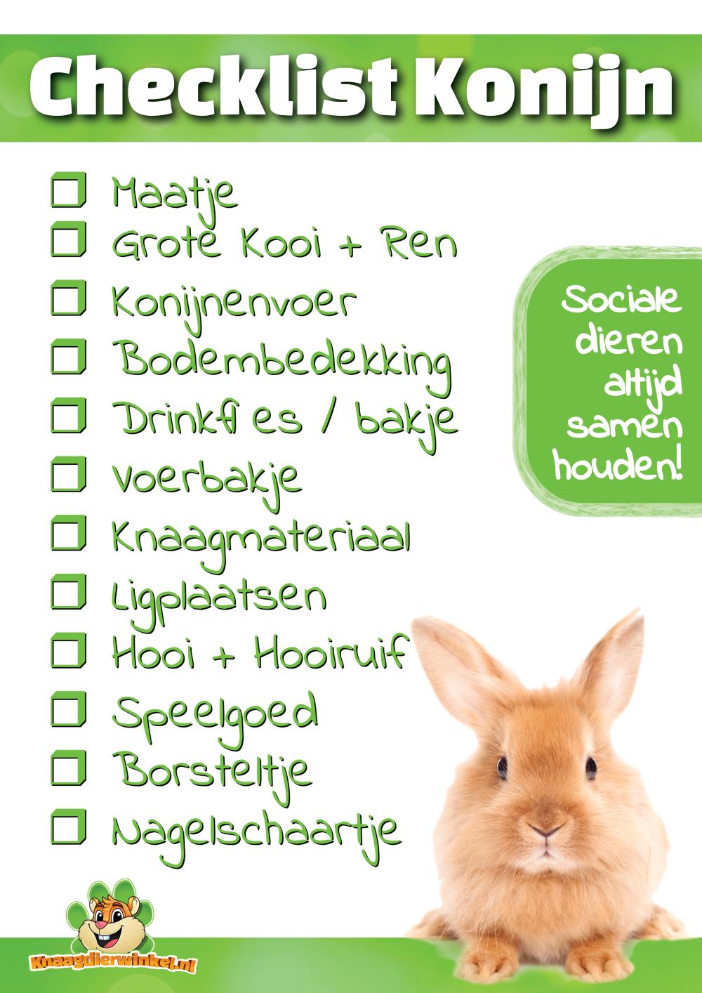 checklist rabbit