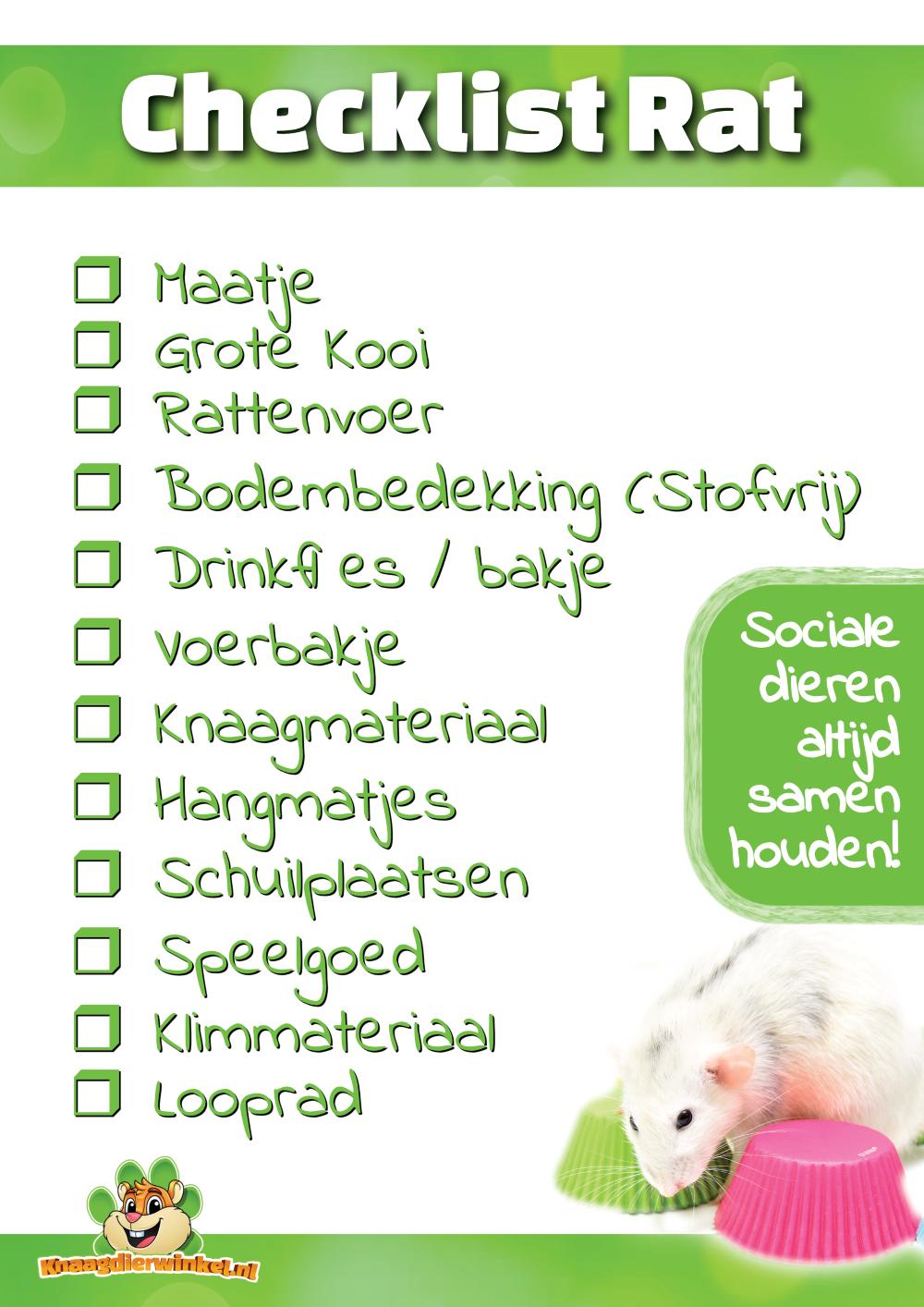 Checkliste rattenfrei