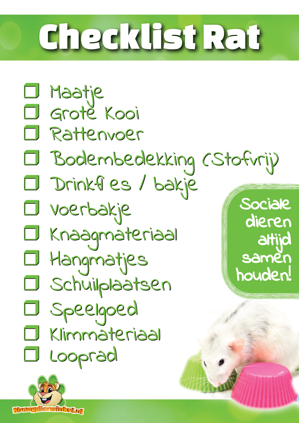 checklist rat