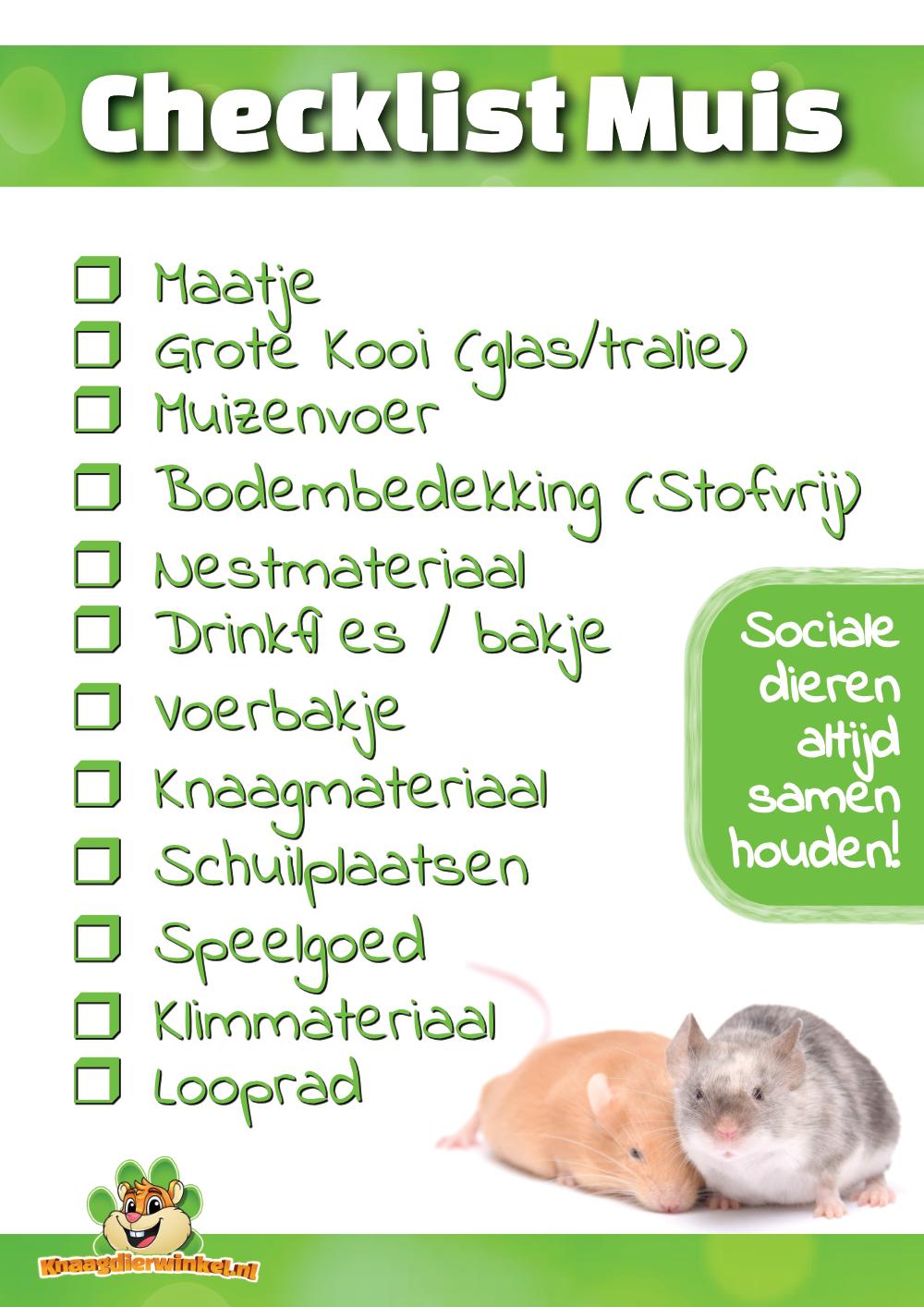 Checklist Muis gratis