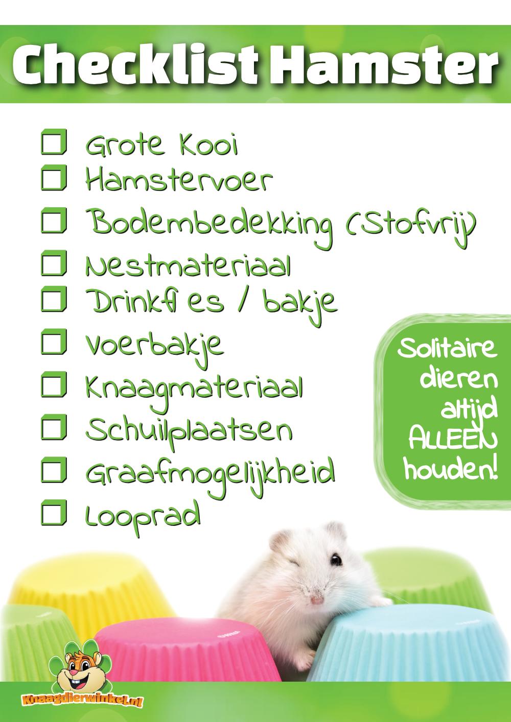 Checkliste Hamster