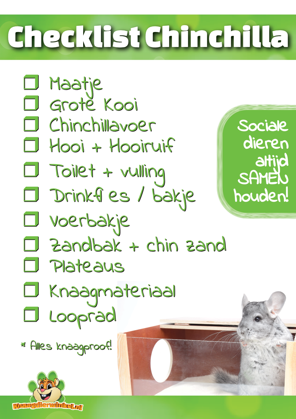 Checkliste Chinchilla
