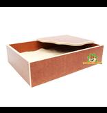 Elmato Sandkasten mit Plateau Brown 35 cm