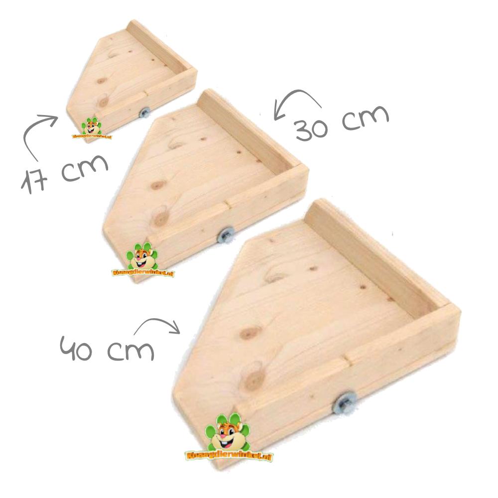 Knaagdierwinkel® Corner tray Blank with Edge