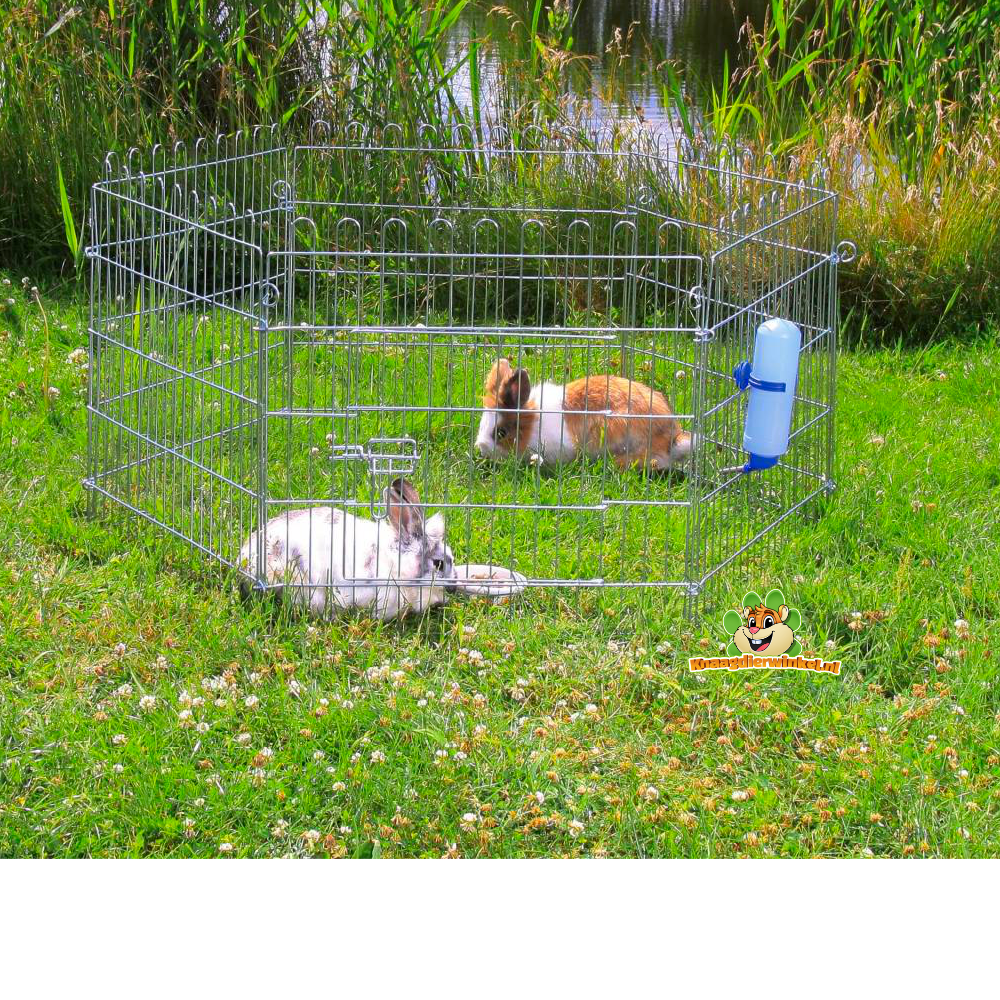 konijnenren voor konijnen buiten en binnen