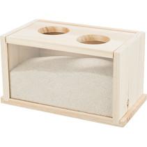 Zandbak blank met twee ingangen 20 cm