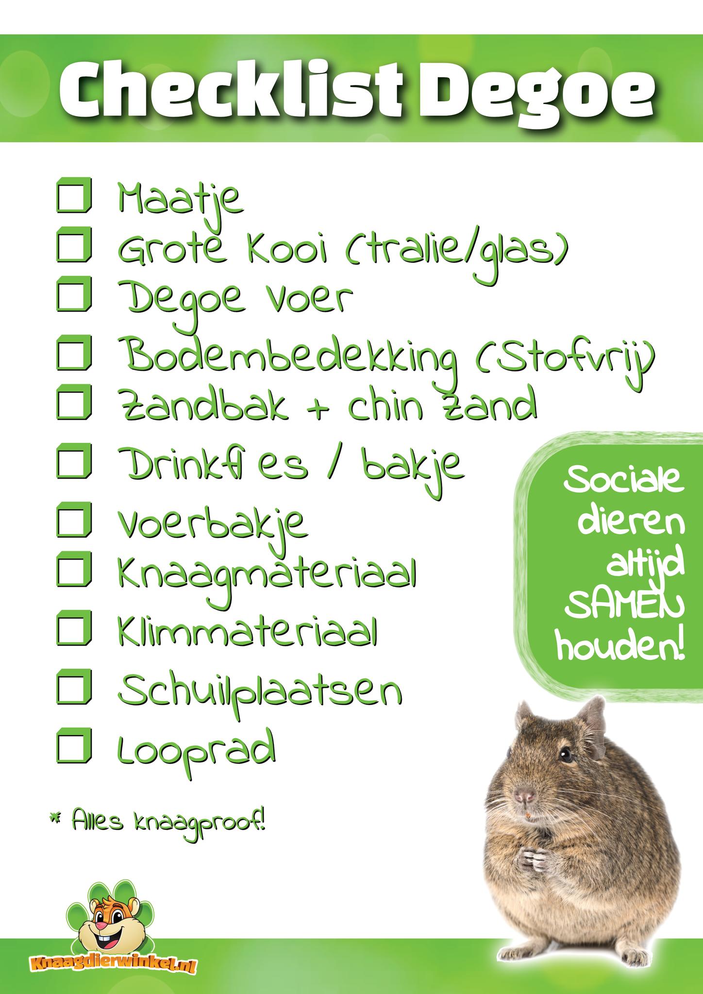 checklist degu
