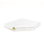 Knaagdierwinkel® Aluminum corner shelf 22 cm