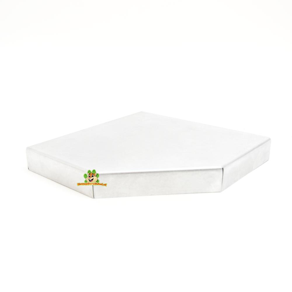 Knaagdierwinkel® Aluminum corner tray 22 cm
